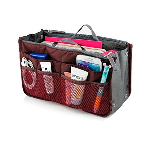 b4de751011c8 Travel Insert Handbag Organizer Women Ladies Bag in Bag Cosmetic Makeup  Beauty Packing Organizers Tote Tidy Pockets Waterproof Storage Toiletry  Neat ...