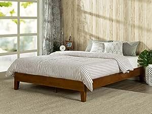 Amazon Zinus 12 Inch Deluxe Wood Platform Bed No Boxspring