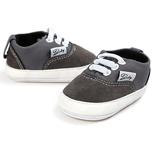 Zapatos de bebé, Switchali zapatos BebéNiña Chicos moda Zapato de lona Recién nacido nino Zapatos casuales Zapatilla Antideslizante Suela blanda barato gran venta Gris