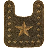 HiEnd Accents Western Star Countour Rug, Chocolate