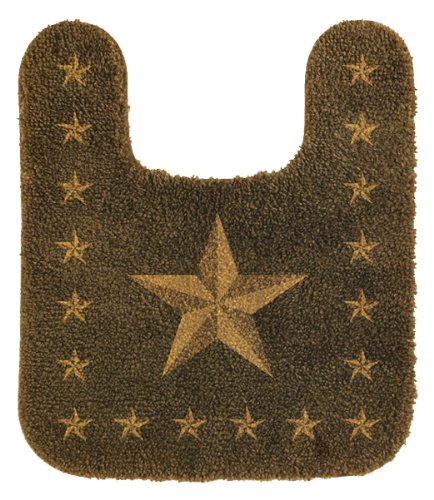 HiEnd Accents Western Star Countour Rug, - Bath Stars Accessories