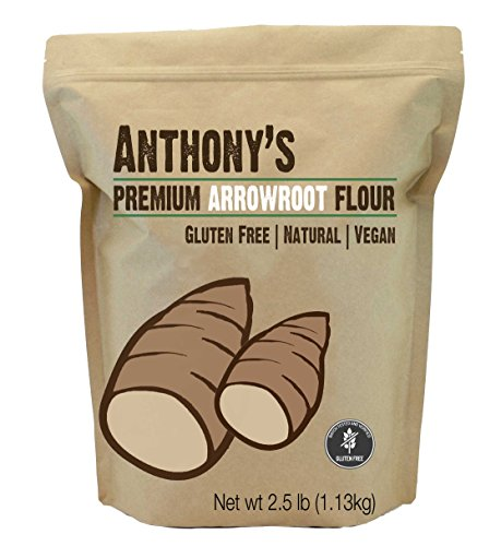 Arrowroot Flour (2.5 Pounds) by Anthony's, Batch Tested Gluten-Free (Flour Wheat No)