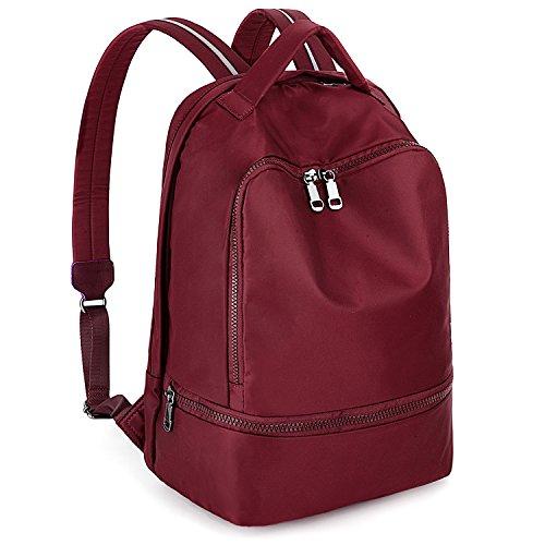 Uto Gym Bag Backpack School Functional Nylon Straps Sport Fashion Hiking Red Reflective 3m UgncBWRg