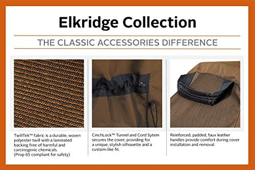 Classic Accessories 56-269-046601-EC Elkridge Housse de Grill résistante Marron Taille L