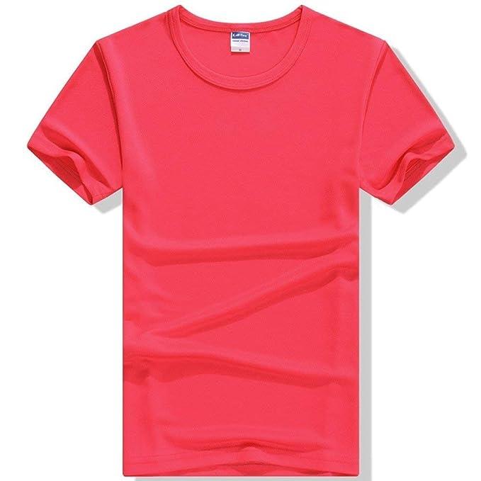Camisas Unisex para Mujer para Mujer Super Premium Tamaños Cómodos Camiseta De Manga Corta Color Sólido