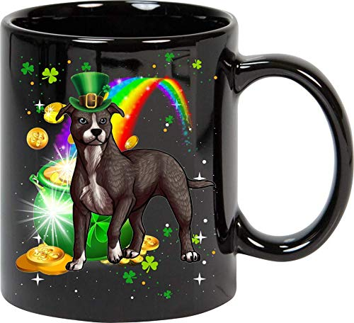 St Patrick's Day American Pit Bull Terrier Dog Lover Mug 11oz ()