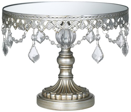 Antique Silver Beaded Stand
