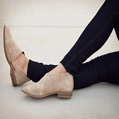 Occasionnels Souligné Chaussures Yogogo Femmes Plat Slip Flat Mode Rétro Ville Mocassins Ballerines Gris On Mules rRFEWRxqw