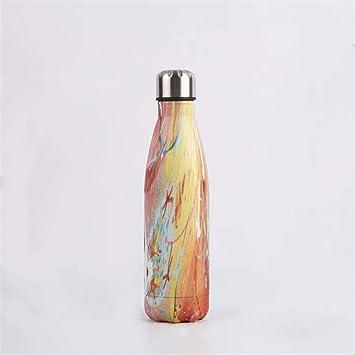 NYCROSSER Botella De Matraz Aislamiento De Acero Inoxidable Sin ...