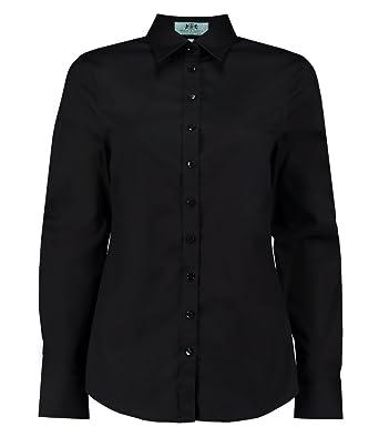 1df693eeb6569 HAWES   CURTIS Womens Poplin Semi-Fitted Single Cuff Shirt  Amazon ...