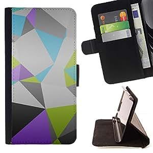 Momo Phone Case / Flip Funda de Cuero Case Cover - Patrón Polígono;;;;;;;; - Apple Iphone 4 / 4S