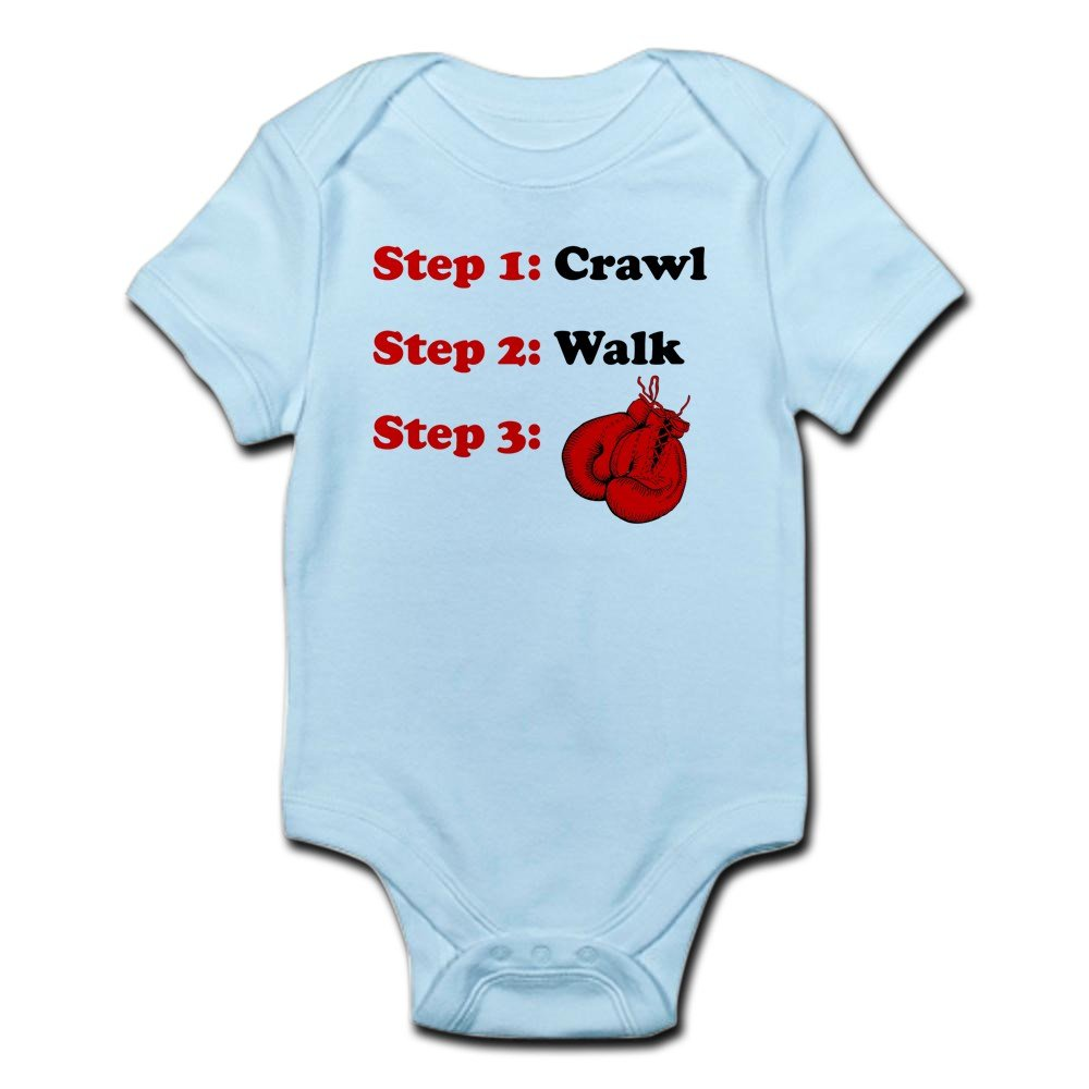 CafePress - Crawl Walk Boxing Body Suit - Cute Infant Bodysuit Baby Romper