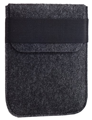 Kindle Paperwhite Sleeve - Kindle Voyage, Protective Felt Cover Case Pouch Bag for Amazon Kindle Paperwhite - Voyage (Dark Grey)