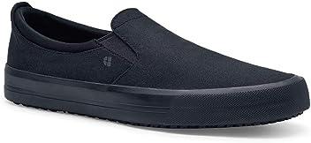 374d40eb053fbd Shoes For Crews Womens Ollie II Casual-Slip On Slip Resistant Work Shoe  Black