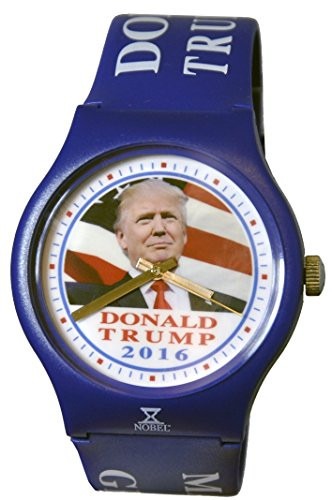 Donald Trump Watch - Special Edition Commemorative Watch - Show Patriotism and Presidential Support - American Flag Background - Assembled by Skilled US Disabled - Novelty Commemorative