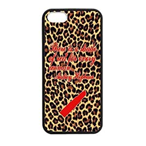 Generic Fashionable Leopard Lipstick Custom Case for iPhone 5,5S Hard plastic shell(Laser Technology)
