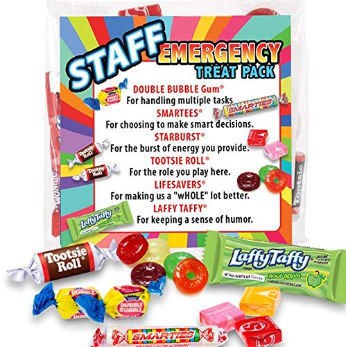 Staff Emergency Treat Pack (sets of 6) - Employee Survival Kits - Goody Bags Appreciation Gifts -
