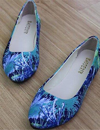 Casual Cn39 Mujer Zapatos Flats Redonda Negro us8 beige Punta Eu39 Blue azul Plano Pdx Uk6 De de Talón TpBpwzq