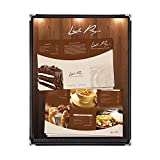 30 Pieces Single-Page 2-View Black Restaurant Cafe Menu Covers for 8.5''X11'' Letter Size Paper