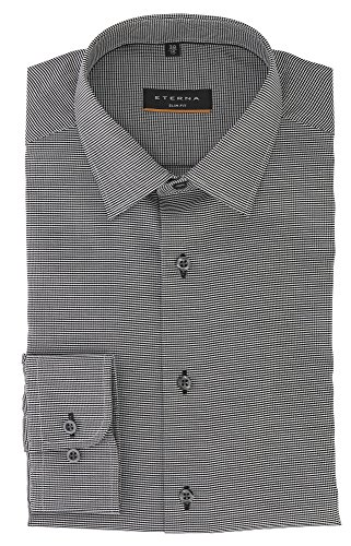 ETERNA long sleeve Shirt SLIM FIT structured grey 15 1/2 Slim Fit (67cm)