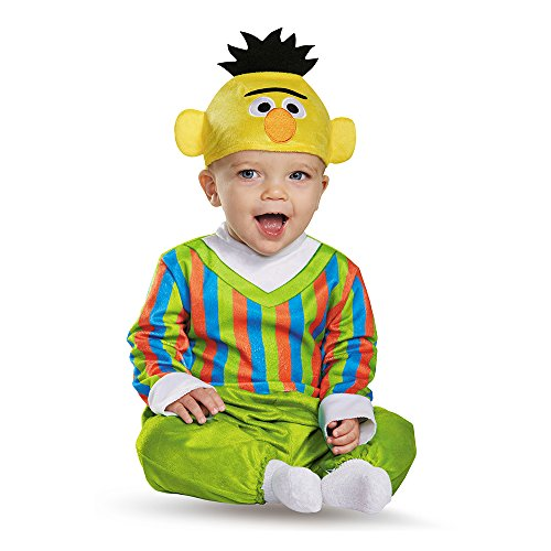 Disguise Baby Boys' Bert Deluxe Infant Costume, Multi, 12-18 -