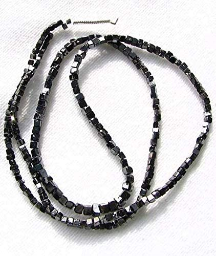 50/% OFF Super fine Quality Natural Black Diamond Smooth Cube Beads 2-2.50 MM 15 inch strand approx