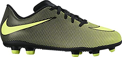 Nike Jr. Bravata II (FG) Firm-Ground Soccer Cleat Black/Volt Size 3 M US