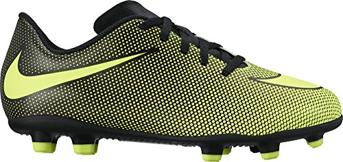 NIKE Jr. Bravata II (FG) Firm-Ground Soccer Cleat Black/Volt Size 13 Kids US