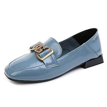 Zapatos Planos Para Mujer Mocasines Zapatos De Charol Bomba De Conducción Zapatos De Trabajo Ocasionales Zapatos Rhinestone Pea: Amazon.es: Bricolaje y ...