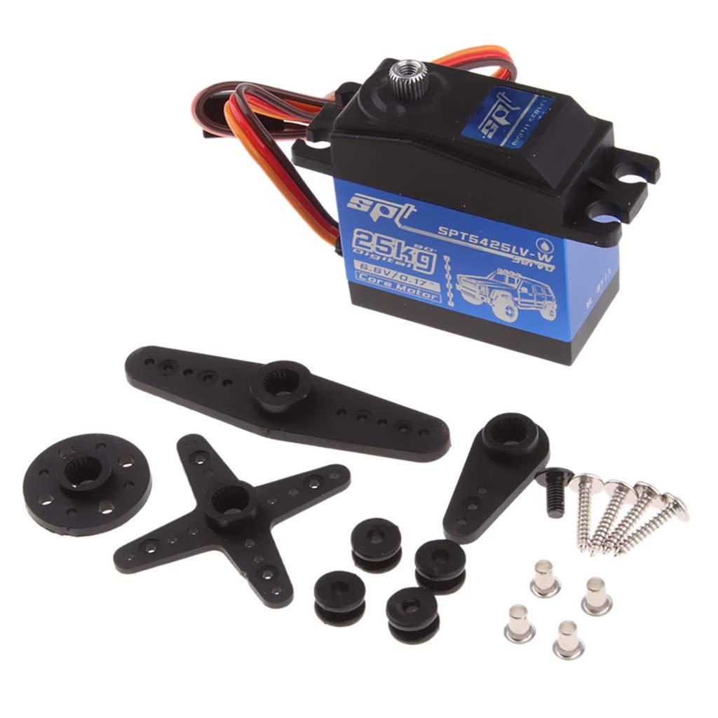 90 Degrees LoveinDIY 25KG Digital Servo 4.8V 6.0V High Voltage Gear Large Torque High Speed Waterproof Servo Horn Kit
