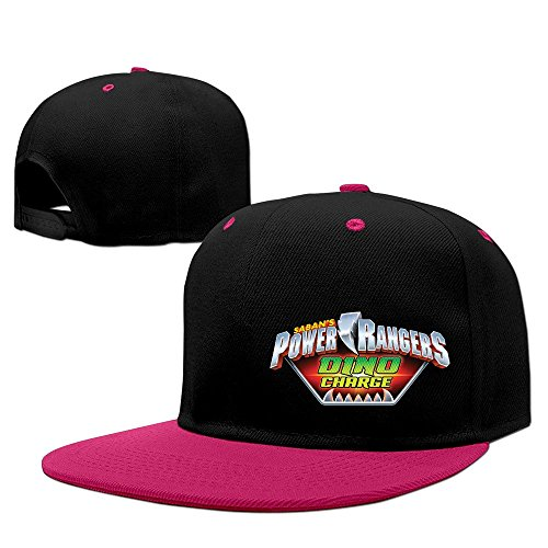 Power Rangers Dino Charge Unisex 100% Cotton Pink Adjustable Snapback Trucker Hat One Size