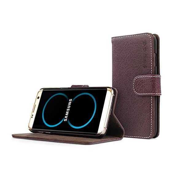 Galaxy S8 Plus Case, Snugg Blackest-Black Leather Flip Case [Card Slots] Executive Samsung Galaxy S8 Plus Wallet Case… 1 Precision Engineered: combining style and functionality seamlessly together, the Snugg Galaxy S8 Plus Flip Case offers a slim and lightweight design together with triple card slots and a money pouch to keep all of your daily essentials together in one place. Comprehensive Protection: your device will be carefully and securely held within the reinforced TPU tray ? this is surrounded by a soft, premium bonded PU leather exterior that acts as a shield against accidental drops, knocks, bumps, scratches and dust. Refined Luxury: the smooth, nubuck fibre interior provides a comfortable cushion for your phone?s precious screen. Subtle, contrasting stitching adds the finishing touches to a case that is just made to match up to the Galaxy S8 Plus?s elegance.