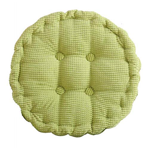idee-home Round Chair Pad Solid Color Warm Floor Cushion | Corduroy Office Dining Seating Pillows Living Room Bedroom Japanese Style Tatami Pillows 18