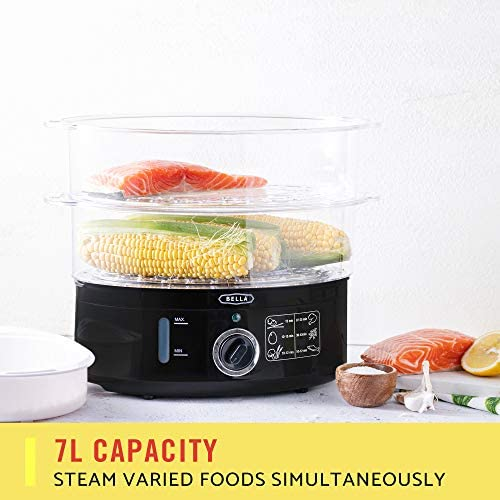 BELLA (13872) 7.4 Quart Healthy Food Steamer with 2-Tier Stackable Baskets 51CErsyBlYL