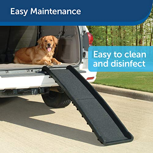 PetSafe Happy Ride Folding Dog Ramp - Portable Lightweight Dog and Cat Ramp - Great for Cars, Trucks and SUVs - Durable Pet Ramp Supports up to 150 lb - Side Rails and High Traction Surface Design