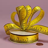 "Yellow Tape Measure Ribbon, 7/8"" X 25Yd"