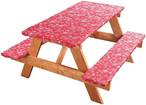 Admirable Covers For The Home Elastic Picnic Table Cover 3 Piece Set Andrewgaddart Wooden Chair Designs For Living Room Andrewgaddartcom
