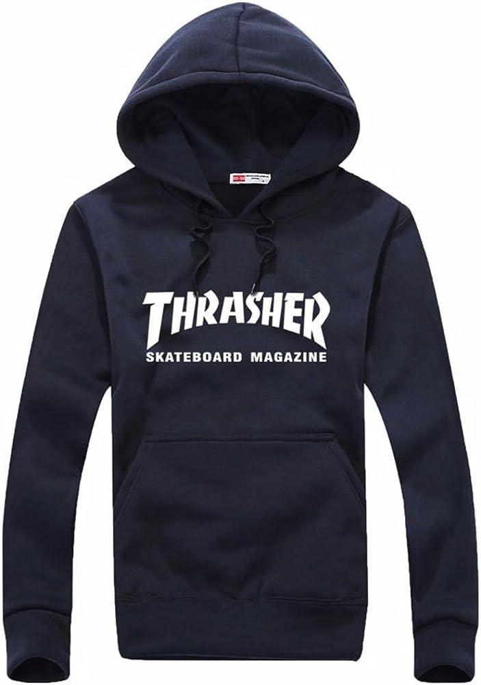 OLUOLIN Mens Pollver Middle School Hooded Sweatshirt Casual Inspired Sweater