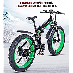 51CEt2vo4mL. SS300 Drohneks Bicicletta elettrica ebike 48V1000W Bici elettrica da Montagna Bici elettrica Pieghevole 4.0 Pneumatico Grasso…