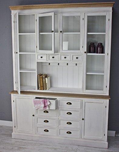 Buffetschrank weiß ikea  elbmöbel Küchenschrank aus Holz in weiß im Landhaus-Stil mit ...