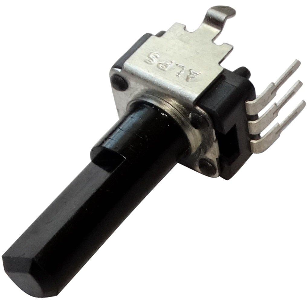 AERZETIX: 2 x Potenció metro rotativo mono lineal 10k? ± 20% eje en D Ø 6mmx4.5mm 17.4mm PCB 9.8x11x6.8mm C14889 SK2-C14889-AF368 x2