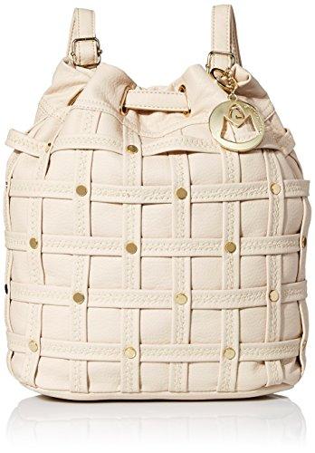 MG Collection Studded Woven Bucket Drawstring bag Studded Drawstring