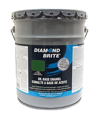- Diamond Brite Paint 31300 5-Gallon Oil Base All Purpose Enamel Paint   Tile Green