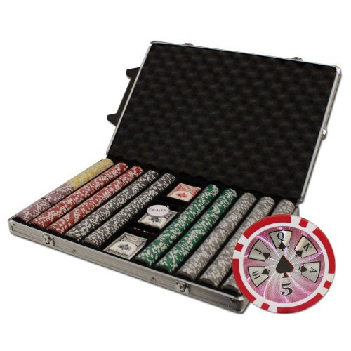 - Brybelly 1000-Count Hi-Roller 14gm Poker Chip Set in Rolling Aluminum Case