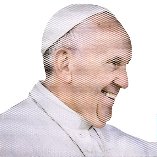 (Thumbs Up UK Ride With The Pope Car Decal Window Cling Sticker - Right Hand)