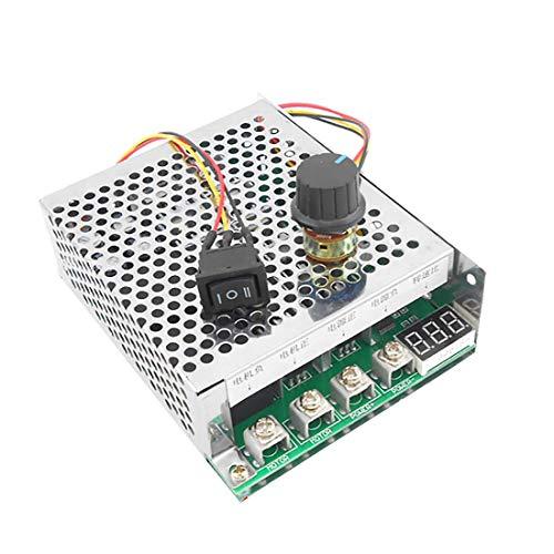 WINGONEER 10V-55V 12V 24V 36V 40A DC Motor Speed Controller Forward Reverse Adjustable Knob Switch Plus Control Driver with Digital Display ()