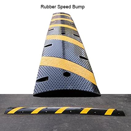 reflective rubber 6 foot speed bump - Rubber Speed Bumps
