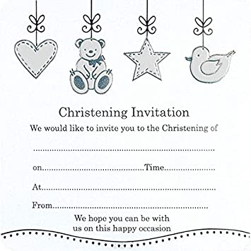 christening invitations pack of 10 by jean barrington amazon co