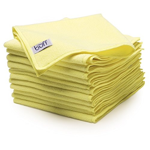 Buff Microfiber Cleaning Cloth | Yellow (12 Pack) | Size 16