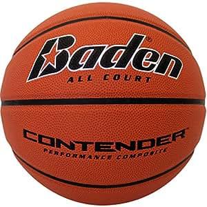 Baden Contender Official Wide Channel Basketball, Natural Orange Color, 27.5-Inch